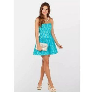 Lilly Pulitzer Tenley Turquoise Lace Me Up Dress